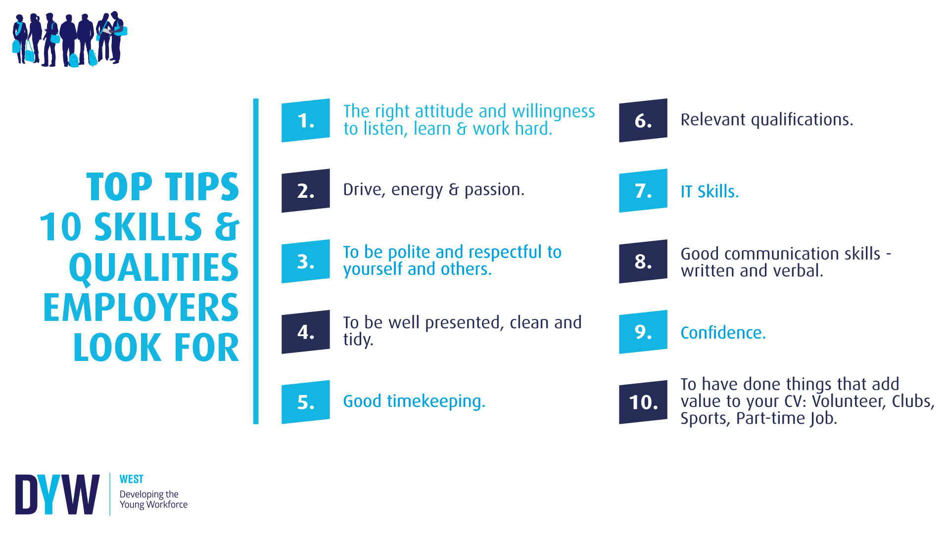 Top Tips: 10 Skills & Qualities Employers Look For